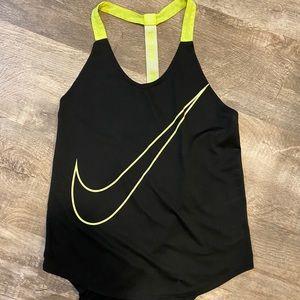 Black and neon green Nike tank top